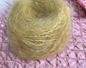 Waldorf doll Yarn Mohair/ Wool  Wild Mohair Boucle  50 grams dark blonde
