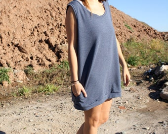 Short Jumper Dress in Bamboo French Terry / by replicca / one size / your choice of colour