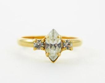 Marquise White Topaz Ring