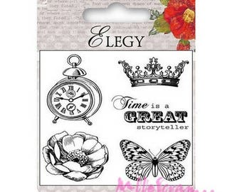 "Clear stamps ""Elegy"" 3 scrapbooking embellishment *."