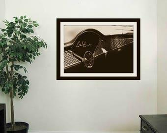 1956 Vintage Sepia Chevy Bel Air Car | Belair | Interior | Dashboard | *Digital Download Only*