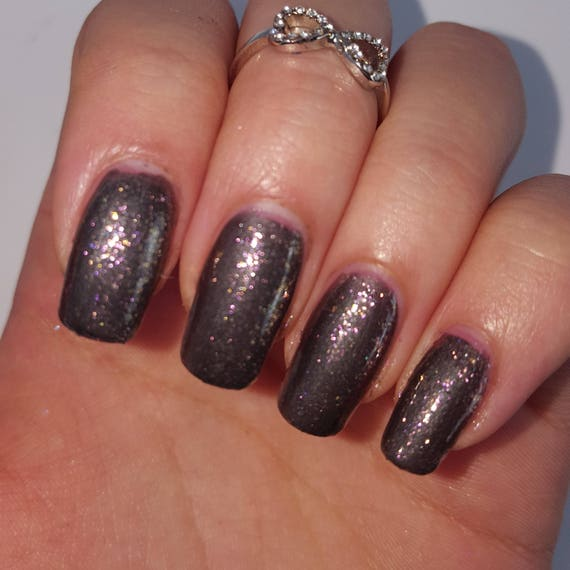 IRIDESCENT RED Top Coat 5-Free Base Handmade Indie Shiny Nail Polish ...