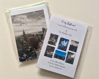 City Skylines - pack of 6 blank notelets