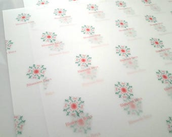 Logo Gift Wrap, Vellum Paper, Custom paper, Custom wrapping paper
