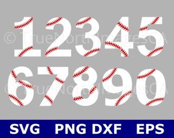 Baseball Numbers SVG / Baseball SVG / Baseball Stitches SVG / Baseball Clipart / Baseball Vector / svg Files for Cricut / Silhouette
