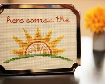 Here Comes the Sun Beatles Cross Stitch PATTERN download
