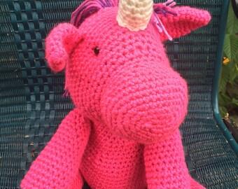 Amigurumi Pink Unicorn