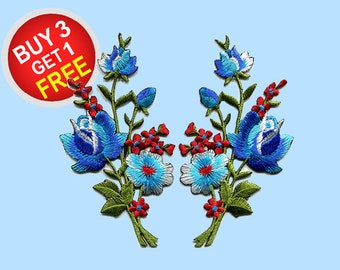 Floral Patches Iron On Embroidered Patches Iron On