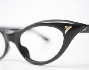Black cat eye glasses  vintage cateye eyeglasses frames