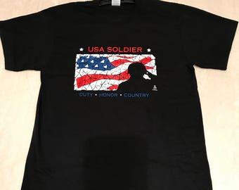Lg T-shirt mosaic Soluting Soldier