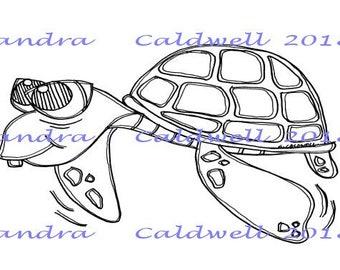2230 Timmy Turtle Digi Stamp  ATC  Swap Sale