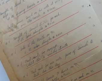 1880's Large Antique Ledger & Blank Paper
