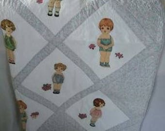"Adorable Doll Quilt ""Paper Dolls"" by Lou Marso"