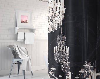 Paris Chandelier fabric shower curtain - bathroom decor