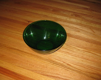 "EMERALD GREEN BOWL Glcoloc France Large Serving Bowl 4 1/2"" High And 9"" Across The Top"