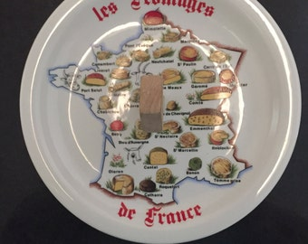 Authentic porcelain French cheese serving plate