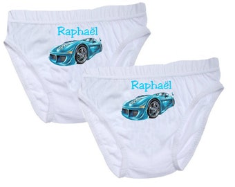 Pants boys car personalized with name