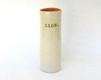 grow  ...    wonderful whimsical festive vase vessel