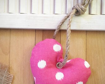 Pink Heart Dog Toy with Squeaker, Stuffed Dog Toy, Pet Toy, Cute Dog Toy, Colorful Dog Toy