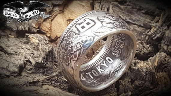 Japan 1964 1000 Yen 925 Pure Silver Coin Ring Tokyo Olympic