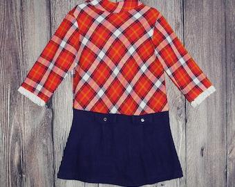 Girls 60s Vintage Sears Tunic 5/6