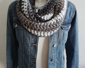 Crochet Infinity scarf, loop scarf, circle scarf, vegan scarf, chunky scarf