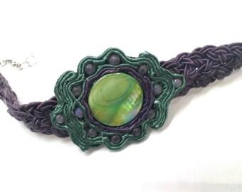 Peacock eye bracelet