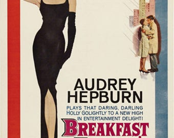 Breakfast at Tiffany's (1961) Audrey Hepburn cult Movie poster reprint 19x12.5 inches