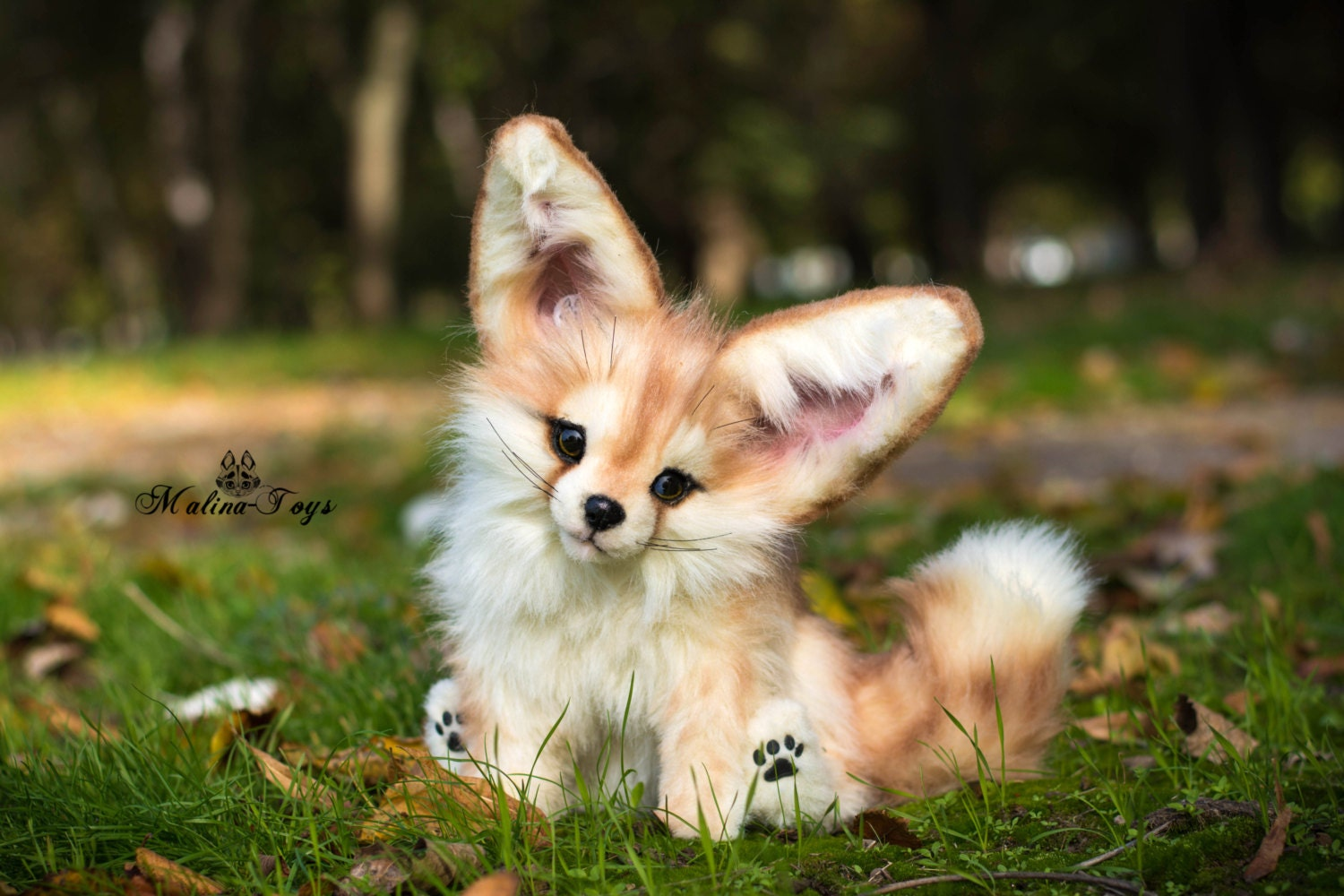 CUSTOM ORDERHandmade Poseable toy Fennec Fox.Fox plush