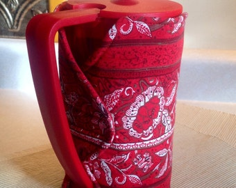 Red French Press Coffee Cozy | Coffee Cozy (Ready to Ship)