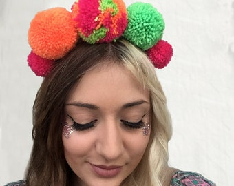 Tropical - Reversible Pompom Headband