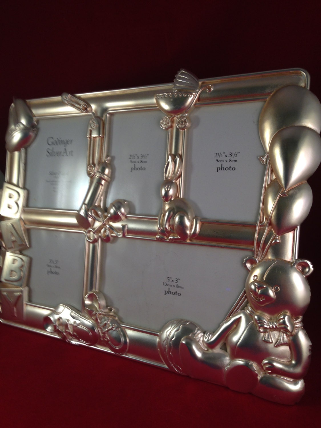 Baby Frame, Godinger Silver-plated, Silver Art, Teddy Bear, Collage ...