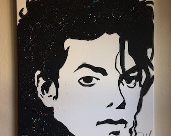 Michael Jackson Original Celebrity Fan Pop Art Painting On Canvas