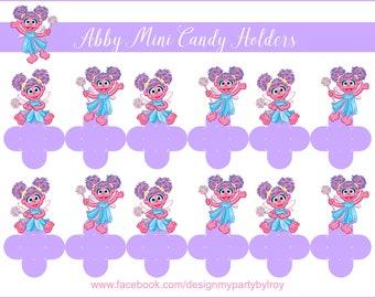 24 ABBY CADABBY Mini Candy Holders, Abby Cadabby Party Decor, Abby Cadabby Favors, Abby Cadabby Boxes, Sesame Street, Abba Cadabby Party.