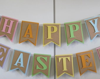 Happy Easter Banner, Rainbow Easter Banner