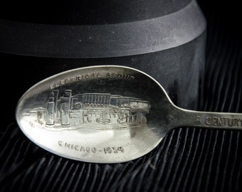 1934 Chicago World's Fair Souvenir Electrical Group  Spoon