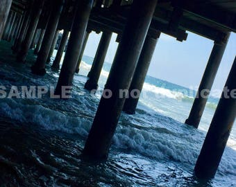 Below the Santa Monica Pier