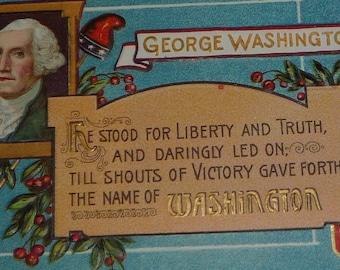 George Washington Antique Patriotic Postcard