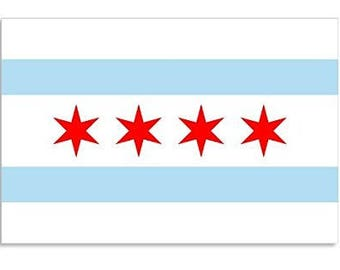 Chicago Illinois City Flag Sticker