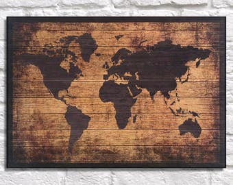 Dorm decor gift for best friend gift wood wall art world map wood world map wood wall art wood map travel gift for boyfriend gift for men gift for women gift for husband for him panel effect wood art gumiabroncs Gallery