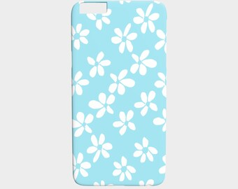 White Flowers / On Light Blue / iPhone 6 Plus / 6S Plus