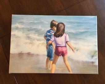 "Surf's Up - Canvas Print 12"" x 8"""