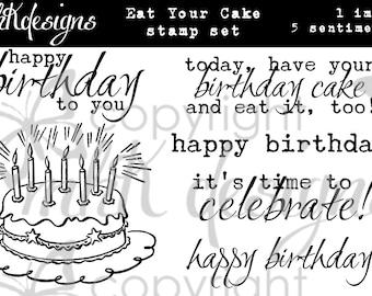 Eat Your Cake Digital Stamp Set