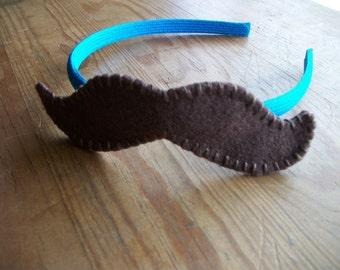 Mustache Head Band