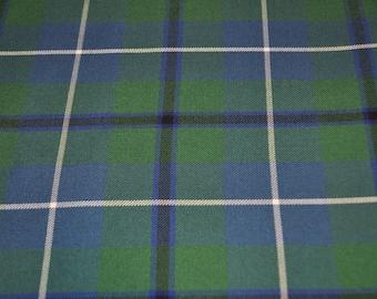 Douglas tartan fabric, Douglas Modern and Douglas Ancient available. Poly viscose. Machine Washable. Price per half metre.