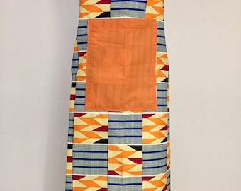 African wax fabric apron