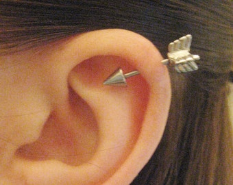 Cartilage piercing jewelry etsy