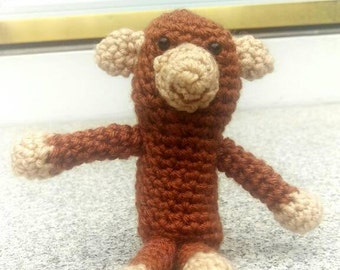Crochet Monkey / Monkey Stuffed Animal / Gifts For Kids / Amigurumi Animals / Crochet Gift Ideas