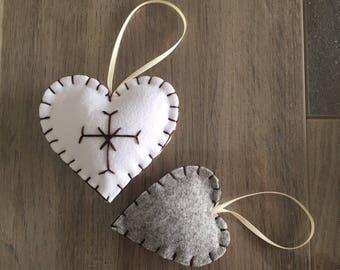 Heart Hearts in Felt