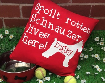 Spolit Schnauzer Dog Cushion Cover
